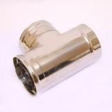 Сэндвич-тройник Ferrum 90° AISI 430 0,5 мм +нерж. Ф115*200