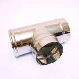 Тройник-К Феррум 90° Ф115 из нержевеющей стали 0.5 мм