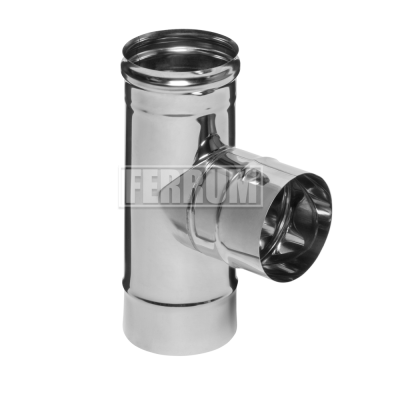 Тройник-Д Ferrum 90 AISI 430 0,5 мм Ф150