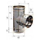 Сэндвич-колено Ferrum 90° AISI 430 0,5 мм +нерж. Ф130*210