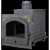 Чугунная печь для бани Гефест Панорама (ПБ-02П)