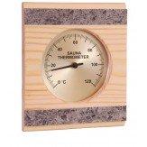 Гигрометр для бани и сауны Sawo 280-HRР сосна и природный камень