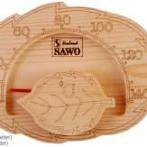 Термометр Sawo 195-ТХ термообработанное дерево