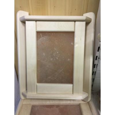 Абажур угловой липа с панелью из массива гималайской соли