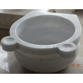 Курна 2 для турецкой бани пристенная 430*430*250 белая