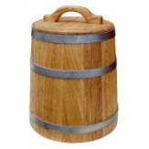 Кадка из дуба для воды и  солений с гнетом 30 л ТМ  Бацькина баня