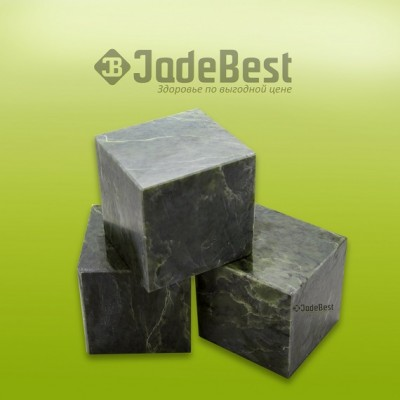 Камни для бани нефрит кубики полированные