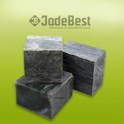 Нефрит кубики шлифованные для бани и сауны, 1 кг в пластиковом ведре