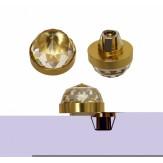 Хрустальная насадка на оптическое волокно кристал CR-16 золото (1540061)
