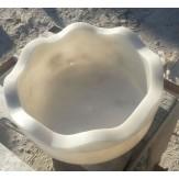 Курна 44 для турецкой бани 420*420*200 белая со сливом