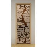 Стеклянная дверь для бани и сауны Aldo ДСМ Спрайт 790х1990мм