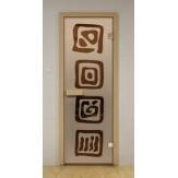 Стеклянная дверь для бани и сауны Aldo ДСМ Оазис 790х1990мм