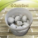 Белый кварц шлифованный отборный Царский для бани и сауны, 1кг