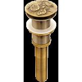 """Слив для раковин  Bronze de Luxe 1/2"""" """"Лотос"""" (клик-клак) арт 21976"""