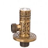 """Вентиль Bronze de lux 1/2""""для подвода воды цилиндр арт.21977"""