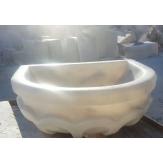 Курна 37 для турецкой бани пристенная 500*400*200 белая