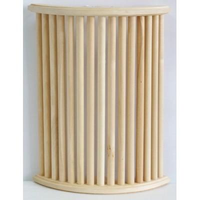 Абажур большой из Абаши угловой, полукруглый, вогнутый для 2 светильников 26*50 см