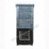 Чугунная печь Калита Экстрим РК в талькохлорите дверца с вертикальным механизмом открывания