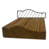 Плинтус-наличник из Канадского кедра фигурный 53*16 длина 2130 мм