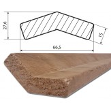 Уголок 19 из Канадского кедра 66,5*27,6 длина 2440 мм