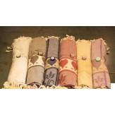 Полотенце пештемаль Osmanli Muslugu Сердце для хамама