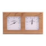 Термогигрометр для сауны и бани Sawo 224-THA в прямоугольном корпусе из осины