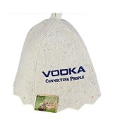 Шапка банная с надписью Vodka connekting people