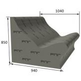 Лежак РПГ Forma на основе 3D полистирола