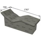 Лежак РПГ Corpo на основе 3D полистирола