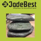 Комплект из 30 камней жадеит для массажа полированный