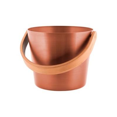 Ведро для бани алюминиевое с бамбуковой ручкой Tammer-Tukku Rento цвет медь, артикул 276427