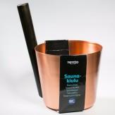 Tammer-Tukku Запарник медный с буковой ручкой для сауны Rento, медь, артикул 260003