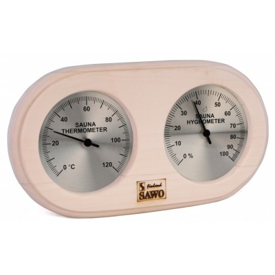 Термогигрометр для сауны и бани Sawo 222-ТНА, осина