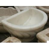 Курна 4 для турецкой бани пристенная 430*320*250 белая