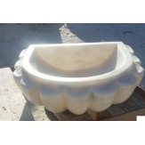 Курна 7 для турецкой бани мраморная 500*400*150 белая