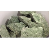 Жадеит колотый для бани и сауны фракция 7-14 см средний 1 сорт отборный,кг в экологичной упаковке