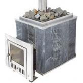 Чугунная печь для бани Калита Классик в талькохлорите дверца стальная окрашеная